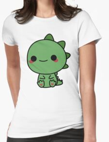 Cute dino Womens Fitted T-Shirt