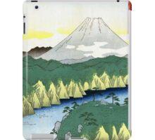 Utagawa Hiroshige The Lake in Hakone iPad Case/Skin