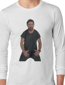 Shia LaBeouf   JUST DO IT!  Long Sleeve T-Shirt