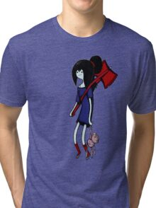 Marceline with Hambo and Guitar Tri-blend T-Shirt
