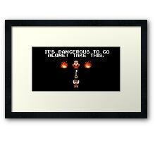 It's Dangerous To Go Alone Kingdom Hearts Framed Print