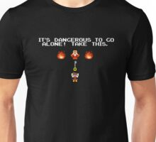 It's Dangerous To Go Alone Kingdom Hearts Unisex T-Shirt