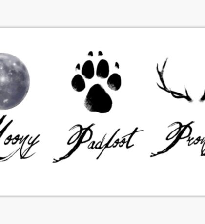 Moony, Padfoot and Prongs Sticker