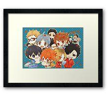 Chibi 7 Haikyuu!! Anime Framed Print