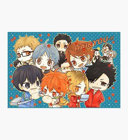 Chibi 7 Haikyuu!! Anime Photographic Print