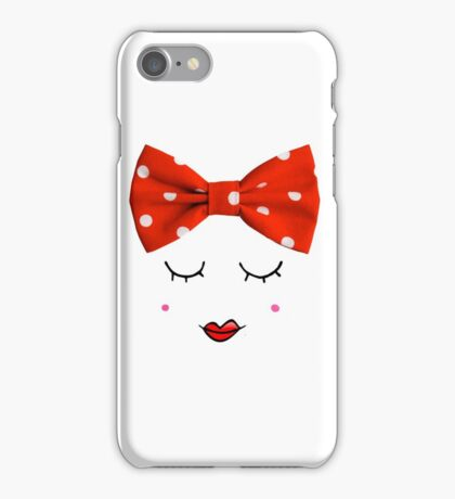 Miss. Red iPhone Case/Skin
