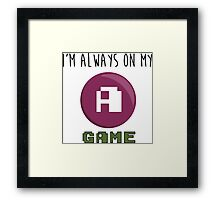 A GAME Framed Print