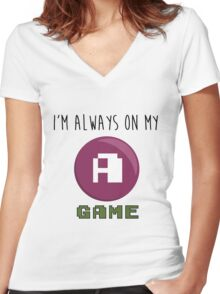 A GAME Women's Fitted V-Neck T-Shirt