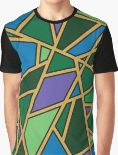 Gold Pattern in Greens and Purples Graphic T-Shirt