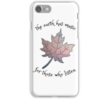 The Earth Has Music iPhone Case/Skin