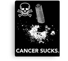 Cancer Sucks. Canvas Print