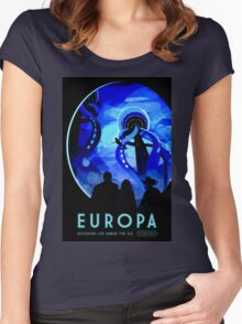 Visions of the future- Europa Women's Fitted Scoop T-Shirt