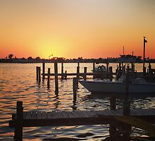 Tide Table Sunset by Jean Macaluso