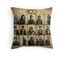 The 100 poster 1 Throw Pillow