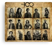 The 100 poster 1 Canvas Print