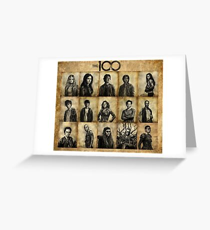 The 100 poster 1 Greeting Card