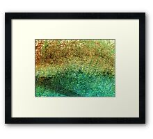 Forest At The Edge Of The Pond in Oil Pastel Framed Print