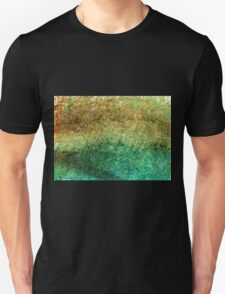 Forest At The Edge Of The Pond in Oil Pastel T-Shirt