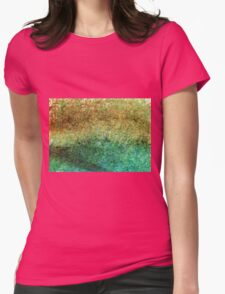Forest At The Edge Of The Pond in Oil Pastel Womens Fitted T-Shirt