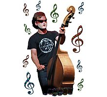 Musician playing cello Photographic Print