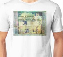 Serenity Prayer art Unisex T-Shirt
