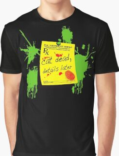 ReAnimator Cat Dead, Details Later Graphic T-Shirt