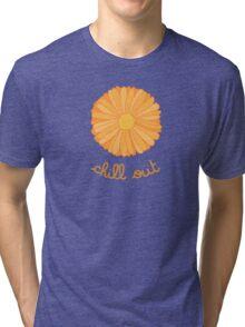 Chill Out - Orange Marigold Tri-blend T-Shirt