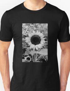 Sunflower Black and White  Unisex T-Shirt