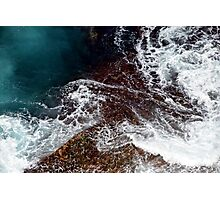 Natural Abstract - Water Over Rocks Photographic Print