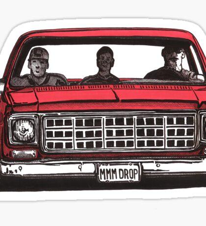 MMM DROP in red Sticker
