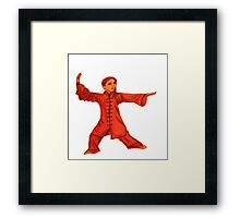 Martial Arts Lady Framed Print