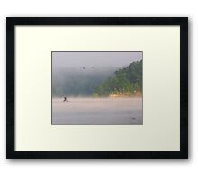 Fog Fishing Framed Print