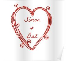 """Simon and Baz from """"Carry On"""" by Rainbow Rowell Poster"""