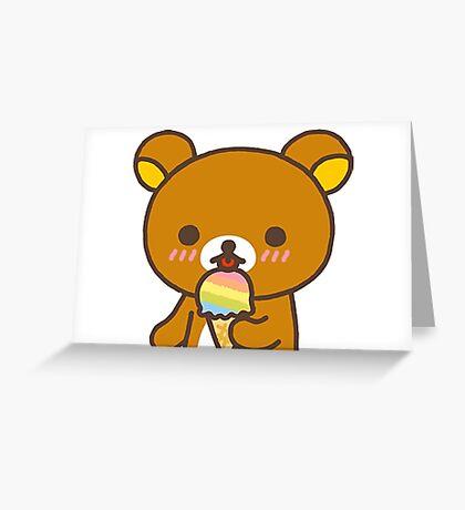 Rilakkuma + Ice Cream! Greeting Card