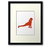 Yoga woman Framed Print