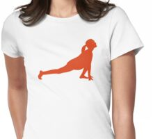 Yoga woman Womens Fitted T-Shirt
