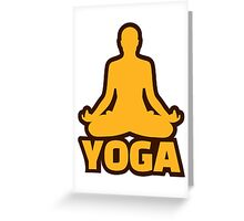 Yoga Greeting Card
