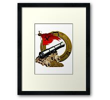 Cannon Challenge For Gold Framed Print