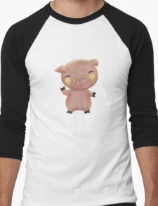 Wee Piggy Men's Baseball ¾ T-Shirt