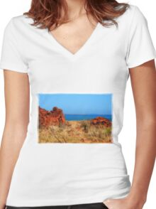 Burrup, Western Australia Women's Fitted V-Neck T-Shirt