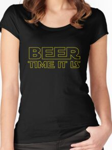 Beer Time It Is Women's Fitted Scoop T-Shirt