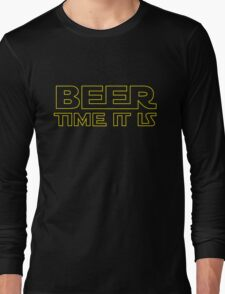 Beer Time It Is Long Sleeve T-Shirt
