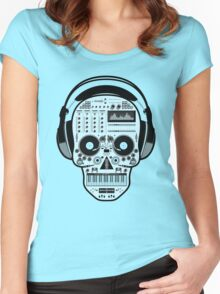 DJ SKULL SPINNING Women's Fitted Scoop T-Shirt