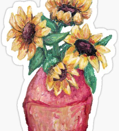 Sunflower Vase II Sticker