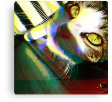 That's One Glitchin' Kitty Canvas Print