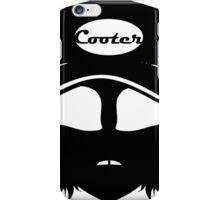 Cooter, White on black iPhone Case/Skin