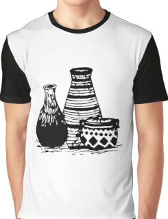 Three Pottery Graphic T-Shirt