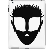 Timmut, White on Black iPad Case/Skin