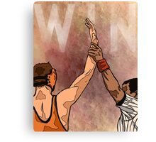 Wrestling Win Canvas Print