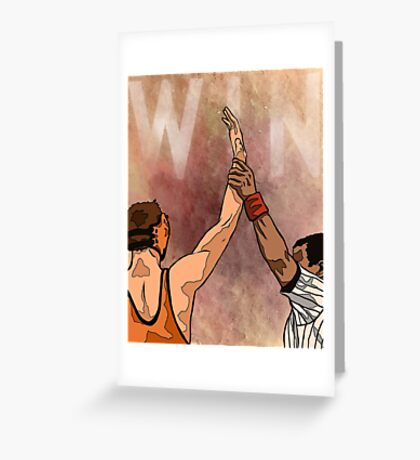 Wrestling Win Greeting Card